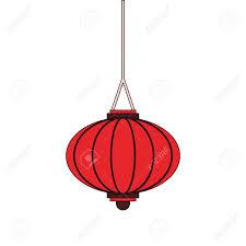 Red Light Graphic Oriental Chinese Lantern Lamp Red Light Decoration Cartoon Vector