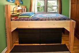 loft bed frame full ikea malaysia svarta with desktop