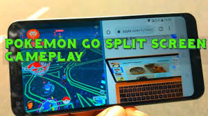 POKEMON GO SPLIT SCREEN QUICK GAMEPLAY - YouTube