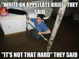 "Write an appellate brief"" they said ""it's not that hard"" they said ... via Relatably.com"