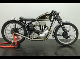 ajs model 38 22 racer 1938 350cc vintage motorcycle start up