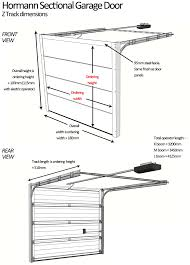 hormann sectional door sizing details