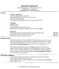 Mcdonalds Resume Sample