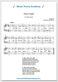 You just can't have too much beginner piano music! Silent Night Music Theory Academy Easy Piano Sheet Music Download