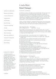 Department Store Manager Resumes Sample Retail Management Resume Assistant Store Manager Resume