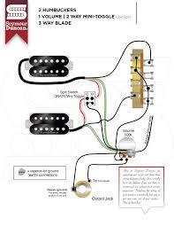 neck humbucker seymour duncan part 11 2 hum 1 volume 2 way mini toggle coil split 3 way blade
