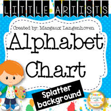 Little Artist Alphabet Chart Paint Splatters
