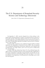 21 The U S Department Of Homeland Security Science And