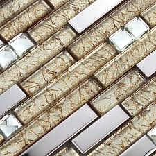 silver stainless steel wall tiles clear crystal diamond glass mosaic tile kitchen backsplash sgd1628