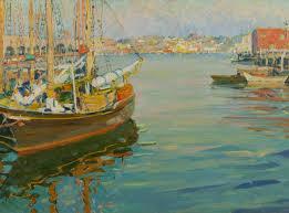 paintings by jane peterson harbor scene