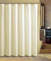 beige fabric shower curtain liner