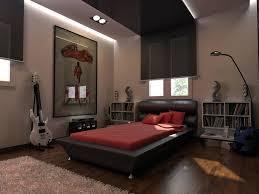 Bedroom:Ideasgrey Platform Bed Grey Leather Headboard Red Matresses Dark  Brown Wooden Flooring Metal Standing
