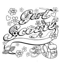 Girl Scout Coloring Page Brownie Girl Scout Coloring Pages Girl
