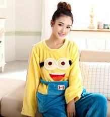 plus size footed pajamas online shop plus size adult flannel winter warm despicable me minion