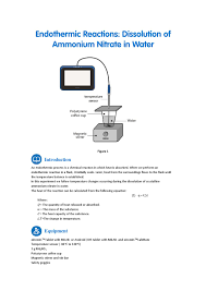 endothermic reactions ammonium nitrate in water by fourier education issuu