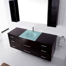 abodo  inch wall mounted single espresso bathroom vanity cabinet set