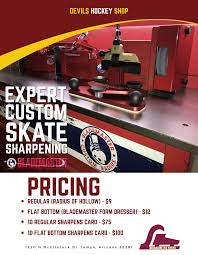 Hockey Blade Sharpening Chart Devils Hockey Shop Oceanside Ice Arena