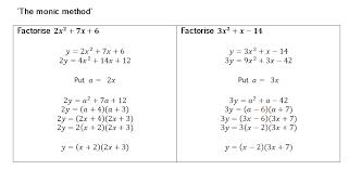 factorising harder quadratics