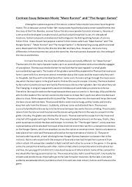 compare and contrast essay eng ii 4 contrast essay between movie ldquo