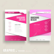 White Brochure Contemporary Brochure Template Design In Pink And White Royalty Free