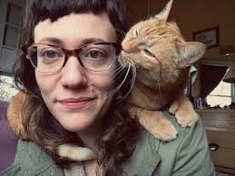 a series of tender points an interview amy berkowitz the amy berkowitz cat on shoulder