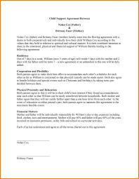 Child Custody Agreement Template Ontario Child Custody Letter Sample
