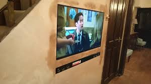 wall mount flush tv and sound bar