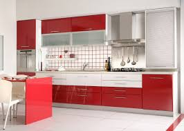 Red Gloss Kitchen Cabinets Bi Color Kitchen Cabinets Are Trending And Rauvisio Brilliants