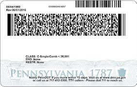 Driver And License Card - Id Penndot Update 2017 Pa