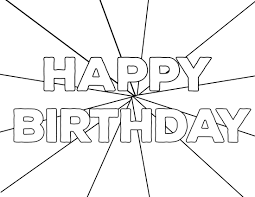 View and print full size. Free Printable Happy Birthday Coloring Pages Paper Trail Design