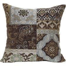Blue And Brown Decorative Pillows
