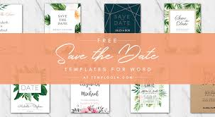 Save The Date Template Word Free Save The Date Templates For Word 4vector