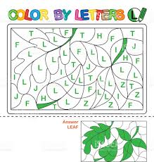 Puzzle For Kids Color By Letters Stock Vector Art More Images Of
