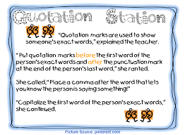Quotation Marks Anchor Chart Unusual 3rd Grade Lesson Plans On Quotation Marks First