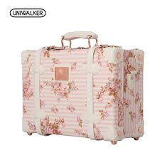 Decorative Luggage Box UNIWALKER 100 100 Inch Waterproof Vintage Trunk Box Case Bag 2