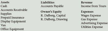 Insurance Company Chart Of Accounts R Dalberg Operates Dalbergs Tours The Company Has Bartleby