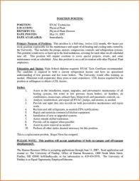 Hvac Engineer Resume Objective Cover Letter Examples Supervisor
