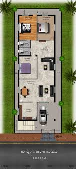 New House Download Download Free Plans 260 Sq Yds 30x78 Sq Ft East Face House 3bhk