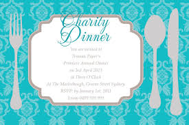 Fun Design Of Fundraiser And Charity Dinner Invitation Card Sample
