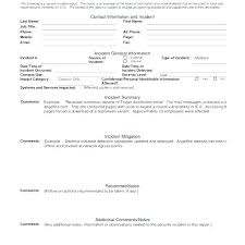 Incident Report Writing Template