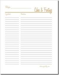 47 Best Free Printable Recipe Pages Images Printable Recipe Cards