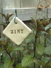 mint plant marker by brigittechristine on 5 00 garden plant markerschocolate