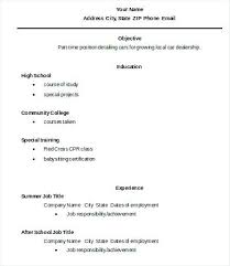Sample Resume Of High School Graduate – Resume Tutorial Pro