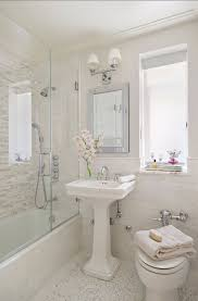 White Rustic Interior Having Chic Monochromatic Vibe in Limited Space