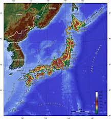 Япония Википедия Физическая карта Японии