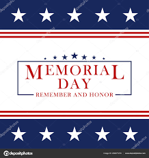 Memorial Day Background With Stars And Stripes Template For