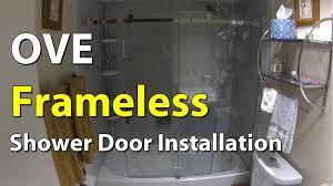 Ove Decors Shower Doors Ove Frameless Bathroom Shower Door Installation Youtube