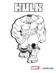 Incredible Hulk Coloring Pages Free Printable Hulk Coloring Pages