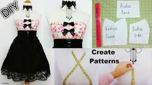 Design And Create Your Own Clothes How To Create Your Own Patterns To Make Dresses And Costumes Diy Sweetheart Dress