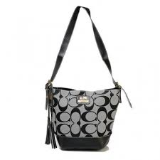 Coach Legacy Duffle In Printed Signature Small Grey Crossbody Bags ACV